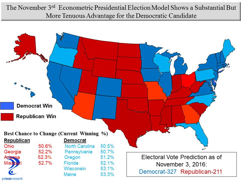 Novembermap Trend Lines - Us election prediction map